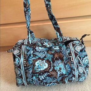 Vera Bradley Jave blue small duffle bag
